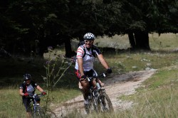 In mountain-bike tra i boschi dei Monti Simbruini