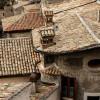 Subiaco: il centro storico visto dalla Rocca Abbaziale