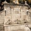 Filettino: La Fontana Caraffa o delle 3 cannelle da cui, secondo la tradizione, nasce l'Aniene