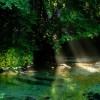 L'Aniene nei pressi della Grotta del Pertuso
