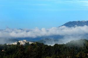 Rocca Santo Stefano vista dai Monasteri Benedettini