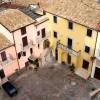 Vallepietra: Piazza Italia vista dalla Torre Caetani