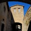 Subiaco, Le torrette medievali dell'Abbazia di Santa Scolastica sulla Via dei Monasteri