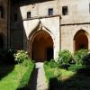 Subiaco. Abbazia di Santa Scolastica, l'arco flamboiant da cui si accede al Chiostro Gotico