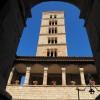 Subiaco, il campanile romanico dell'Abbazia di Santa Scolastica