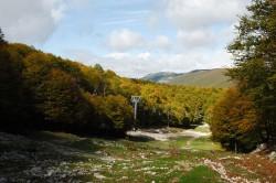 Filettino, Campo Staffi. Il del sentiero che da Campo Staffi scende a Campo Ceraso