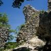 Cervara di Roma, la Prugna, i ruderi del torrione della rocca