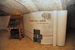 Subiaco, Museo delle Attività Cartarie e della Stampa, caratteri mobili