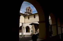Subiaco, Convento di San Francesco, il chiostro