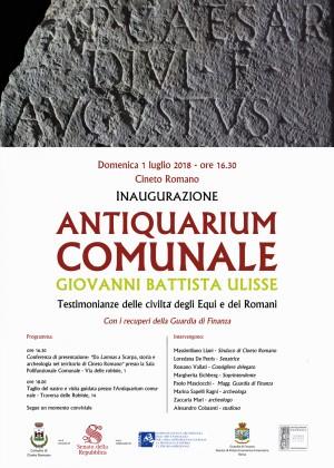 Locandina-Inaugurazione-Antiquarium-Cineto-Romano-01.07.18